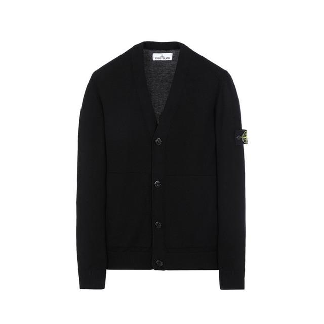Stone Island Knit Cardigan Black 7015527B2