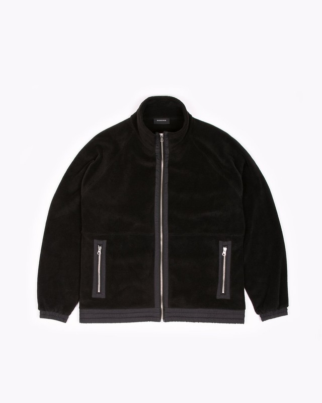 MAIDEN NOIR MOCK ZIP FLEECE - BLACK