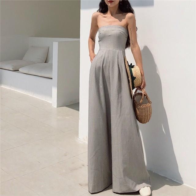 【ボトムス】ファッションハイウエスト切り替えガウチョパンツ21118357