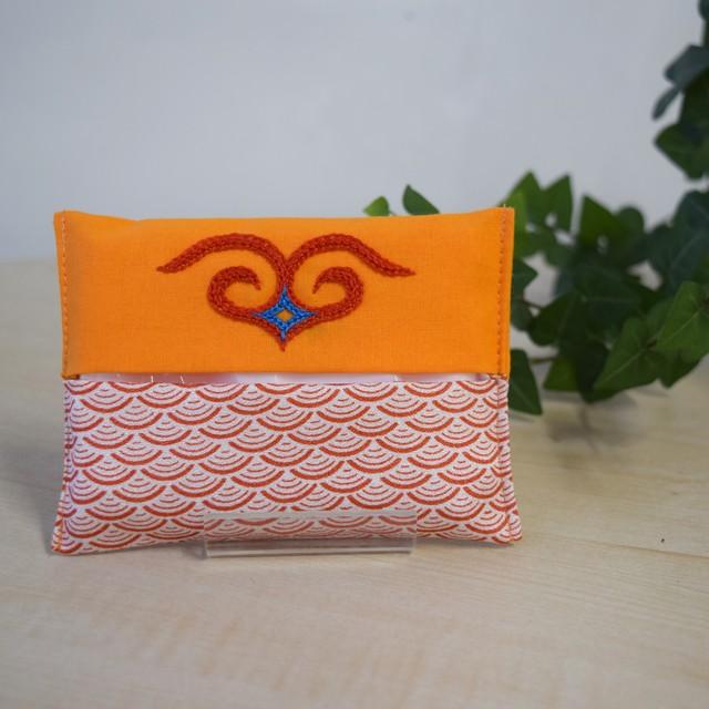 ティッシュケース  Pocket tissue holder 【さっぽろアイヌクラフト】