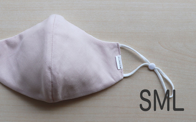抗ウィルス・天然素材の布マスク【ベビーピンク】