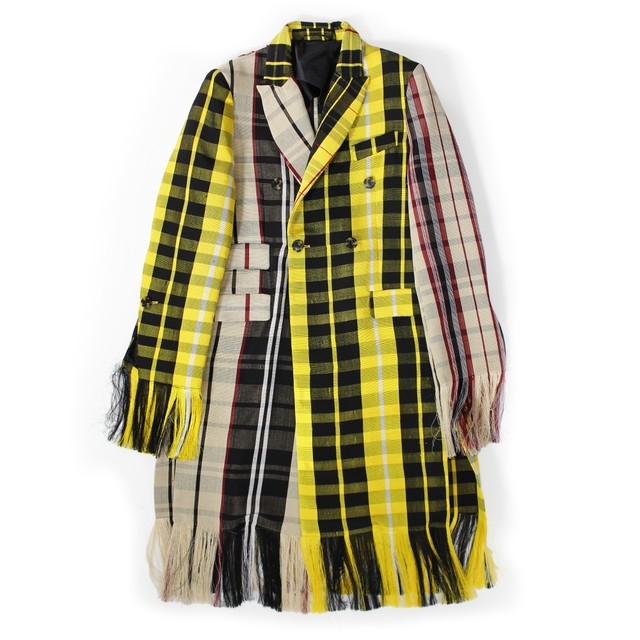 KENNETH IZE Check Coat