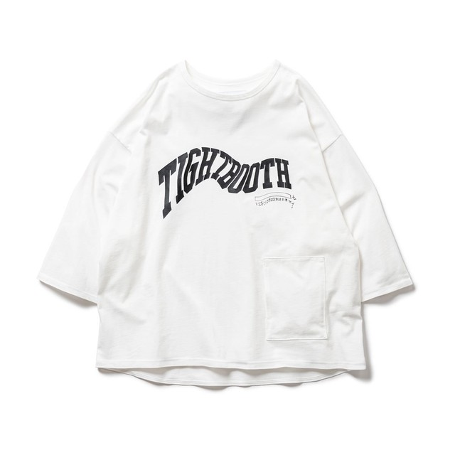 TIGHTBOOTH ACID LOGO 7 SLEEVE T-SHIRT WHITE