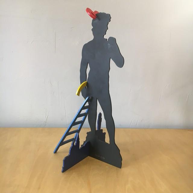 """PATRIC MOYA/パトリック・モヤ """"DAVID"""" iron art sculpture エディション 9/30 現代アート 彫刻 オブジェ"""