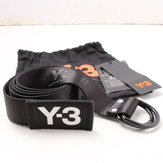 Y-3 ワイスリー ロゴベルト ロゴ BLACK Lサイズ [全国送料無料] r017509