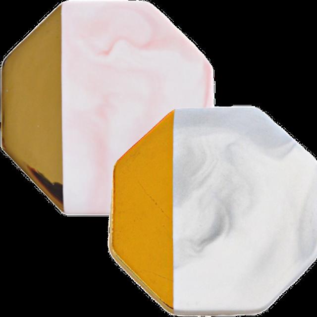 Marble  coaster hexagonal / 大理石コースター 六角