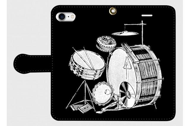 (iPhone用)ドラムの手帳型スマホケース
