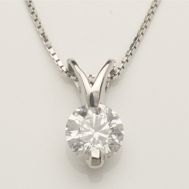 K18ピンクゴールド/WG/YG【0.35ct】ペアシェイプモチーフ ダイヤモンドネックレス