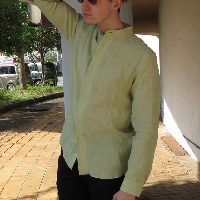 スタンドカラーシャツ(ベリギーリネン)
