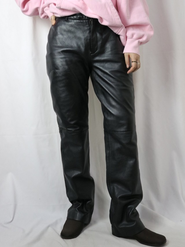 leather tapered pants【5677】