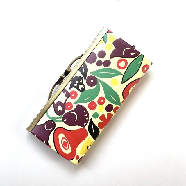 【秀和 x pink india】北欧デザイン 牛革がま口復刻長財布 | tulip