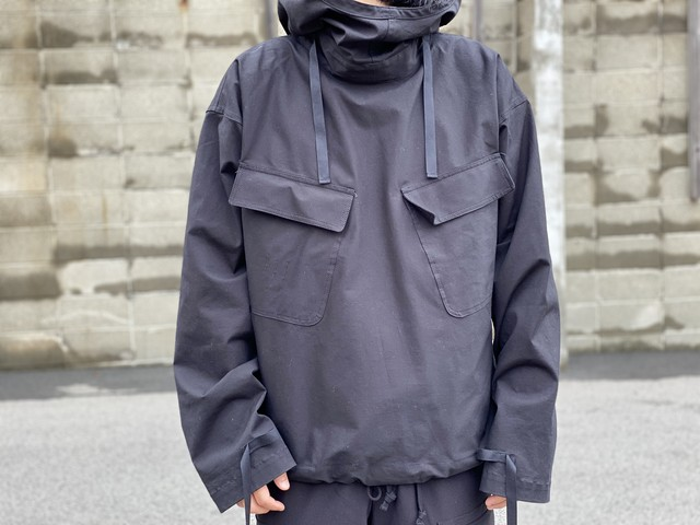 CHORD NUMBER EIGHT 20SS SALVAGE PARKA BLACK 70JG7238