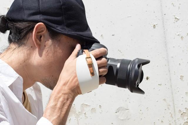 《2cm幅》生成コットンレザーのカメラストラップ