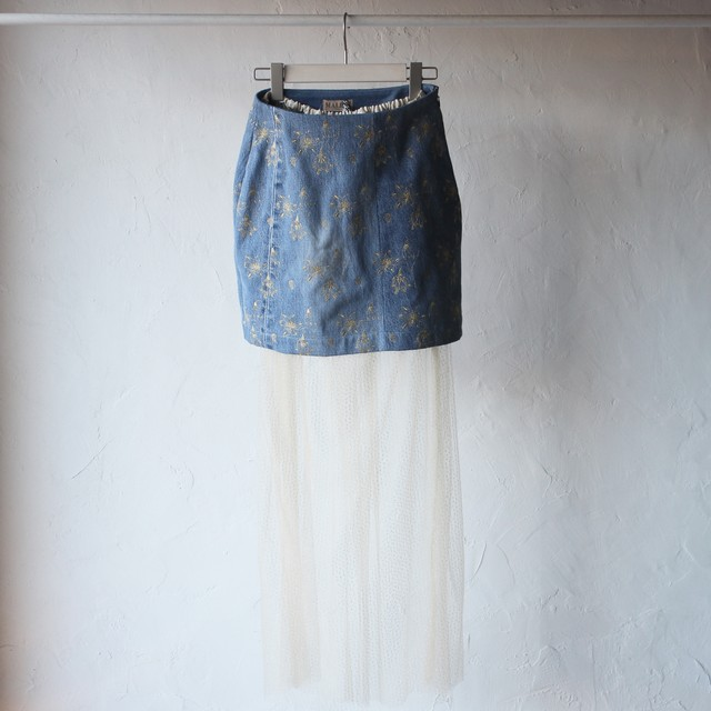 ※50%off【Malion vintage】snow flake skirt