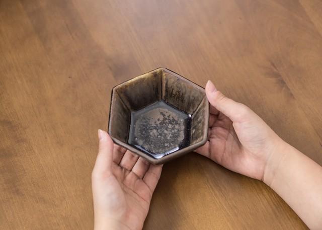 褐色釉 六角鉢(小鉢)/くるり窯