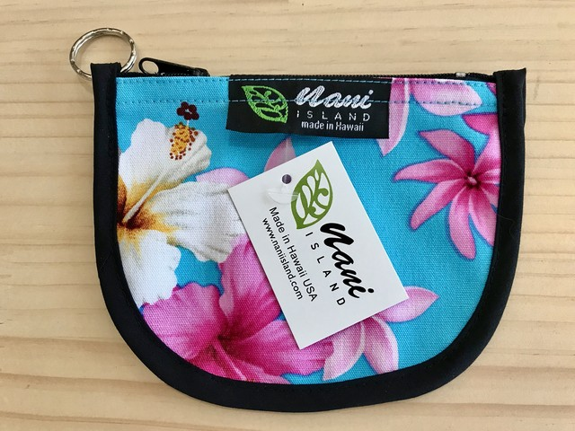 "NANI ISLAND ""MADE IN HAWAII"" POUCH (SKY/PINK)"