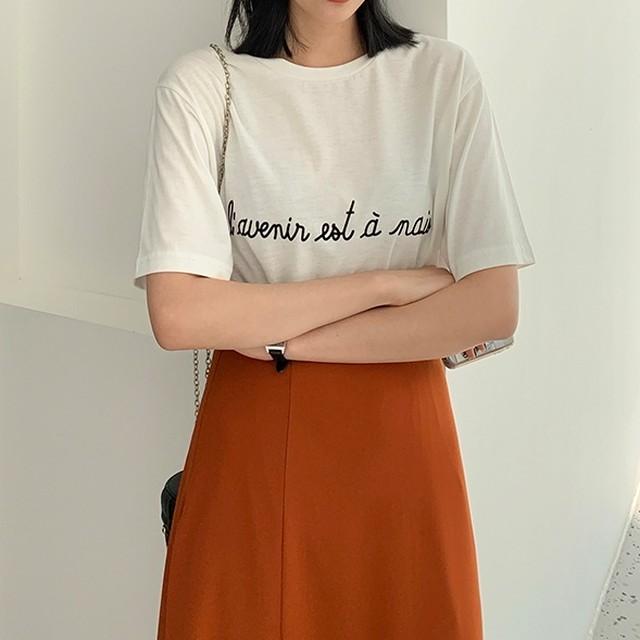 フレンチロゴプリント半袖Tシャツ
