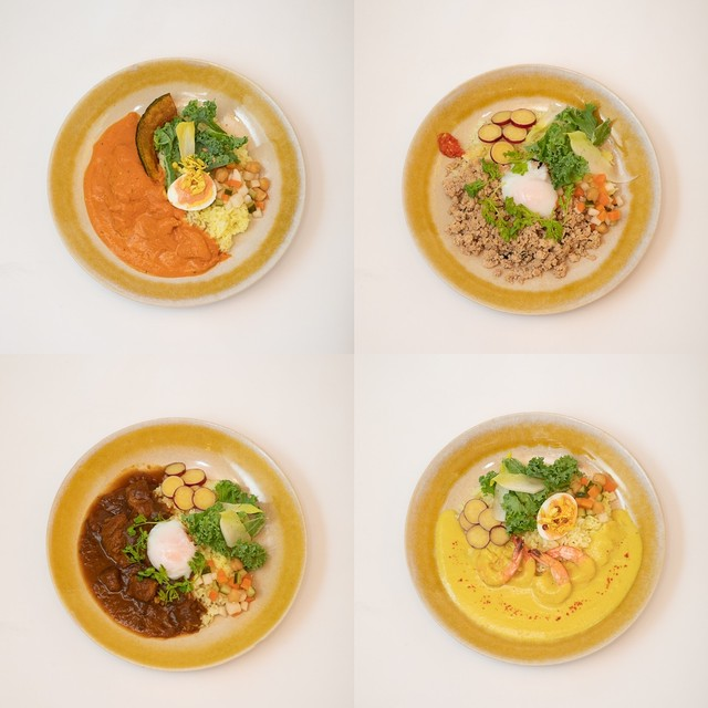 カレー3種➕ガパオセット(1人前×4)