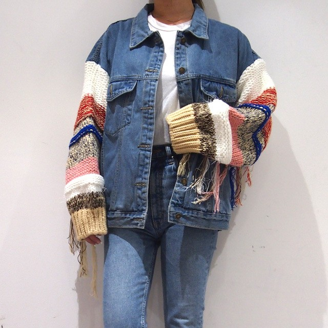 【RE-ARRIVAL】 BIG  FRINGE DENIM JKT