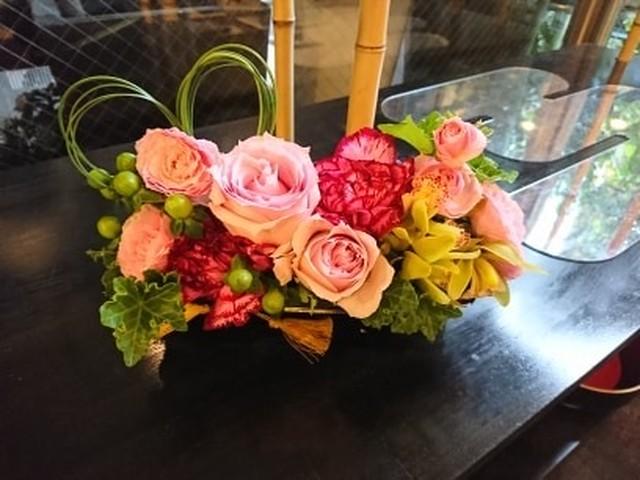 「ありがとう」の花籠