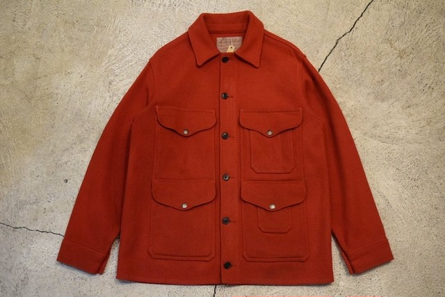 USED 70s FILSON Scarlet Mackinaw Cruiser -L J0776