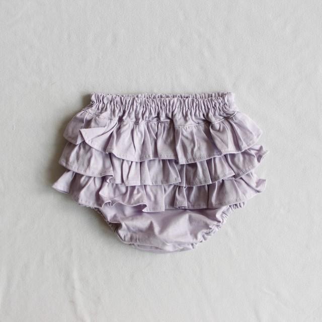 《mimi poupons 2021SS》フリルパンツ / lavender / onesize(70-90cm)