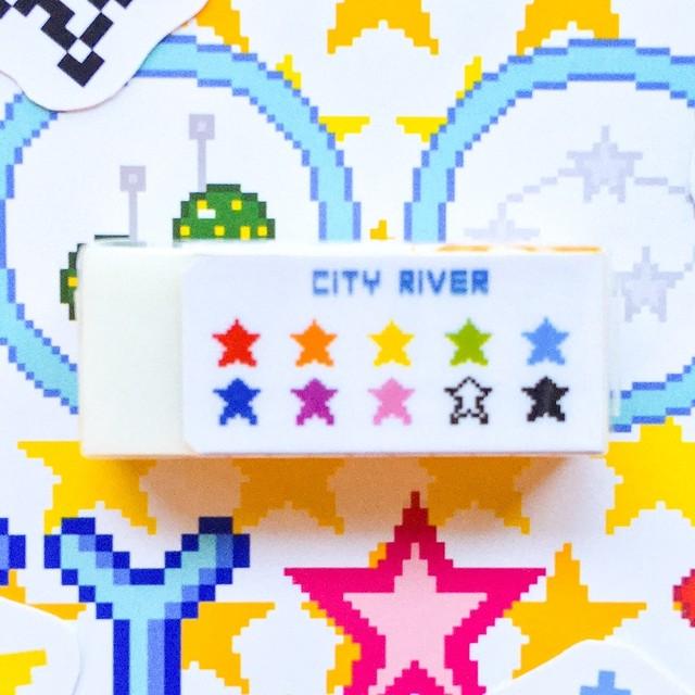 消しゴム CITY RIVER オンちゃんの星ほし柄