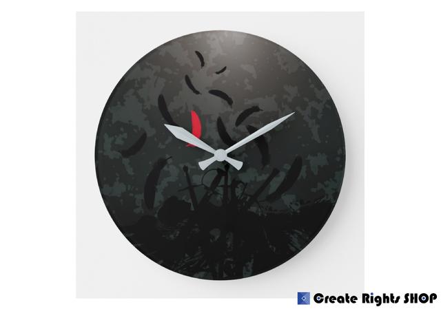オリジナル円形壁時計018