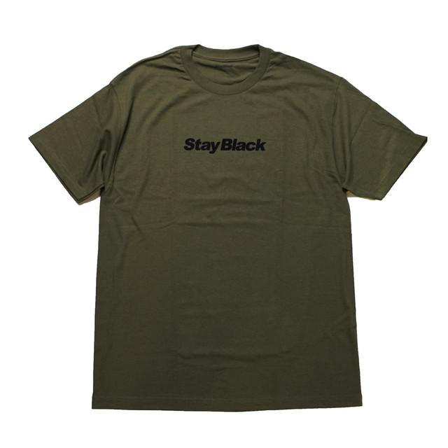STAY BLACK ORIGINAL LOGO TEE ARMY -DARK GREEN