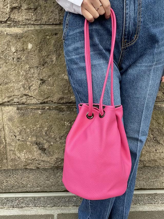 巾着bag[Color:ピンク]