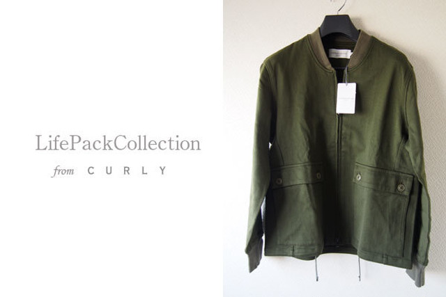 【Sold Out】<ライフ パック コレクション フロム カーリー|LIFE PACK COLLECTION from Curly>ルームジャケット|カーキ|2