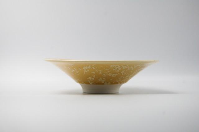 ◆受注生産◆結晶釉バニラ平鉢 安藤寛泰作