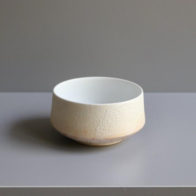 黄泡 杵型鉢(大) Yellow foam  Pestle bowl(large)