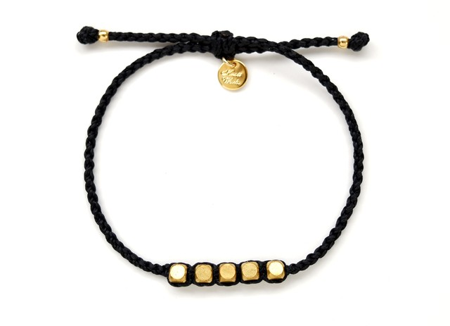Brass Beads Bracelet/Black×Gold[真鍮ブレスレット]