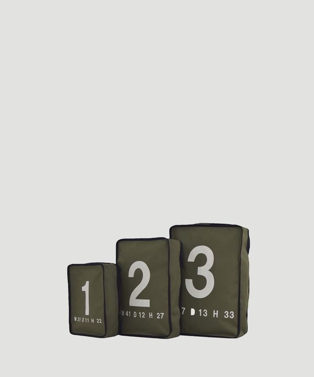 LORINZA Travel Pouch Set Olive LO-STN-01-02-03-OLIVE