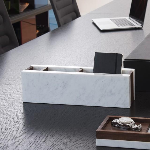 デスクトップオーガナイザー・スタンド|イタリア産天然大理石 ホワイト|シィナベルスタンド
