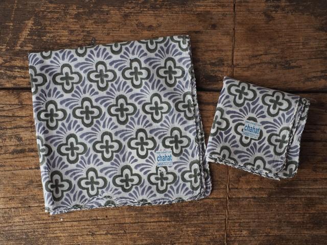 156ri049 Block Print Handkerchief a10
