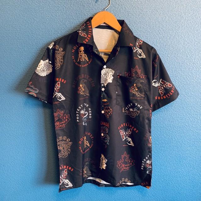 タトゥーフラッシュワークのアロハシャツ