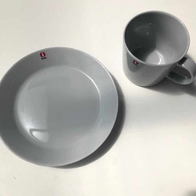 イッタラ ティーマ  パールグレー プレート17センチ 2枚セット