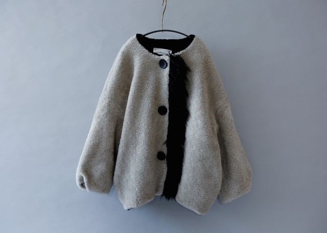 《michirico 2019AW》Boa coat / gray