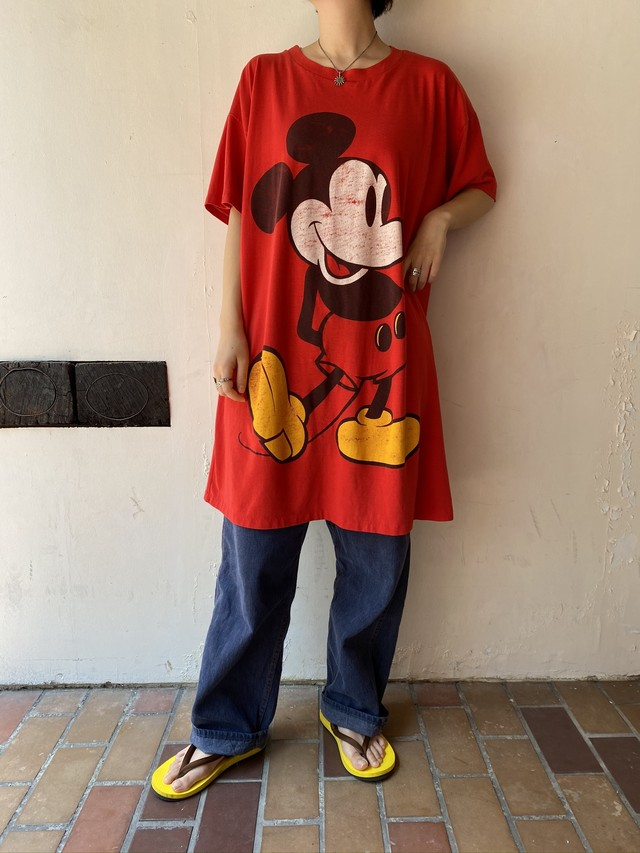 mickey big print Tee RED[1264]