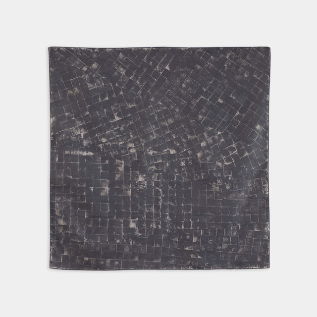 Shiori Mukai Textile 008 向井詩織 ブロックプリント 約90×87cm