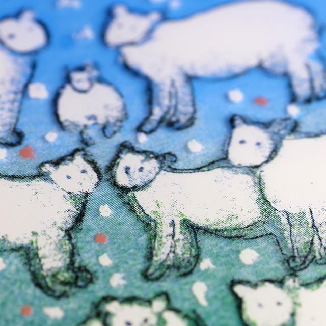 ARABIA アラビア Helja Liukko-Sundstrom ヘルヤ リウッコ スンドストロム 羊の群れのガラス板(オリジナル紙箱入り) 北欧ヴィンテージ