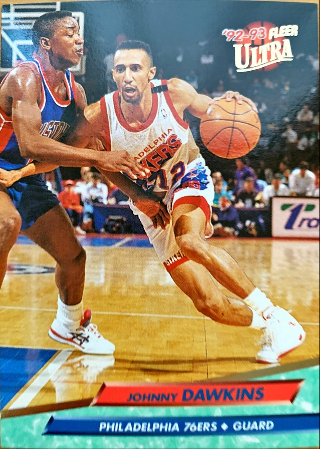 NBAカード 92-93FLEER Johnny Dawkins #137 76ERS