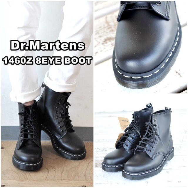 Dr.Martens  ドクターマーチン  8ホールブーツ  ホワイトステッチ レザーブーツ 24758001 1460WS