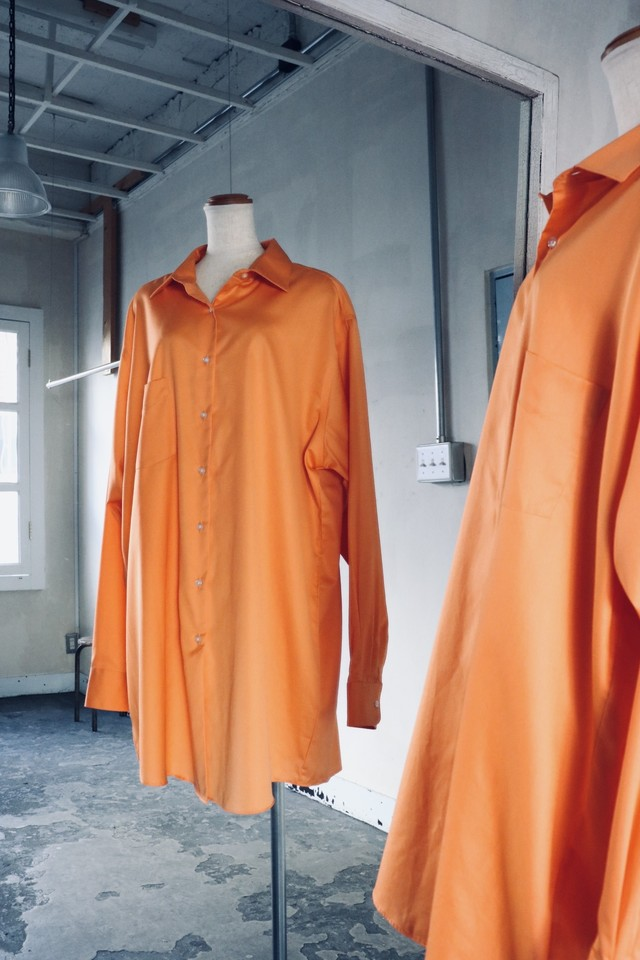 Vintage orange long shirt