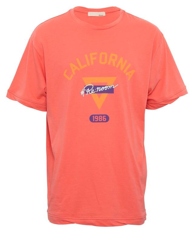 TWIST RIB CALIFORNIA 1986 PRINT T-shirt[REC402]