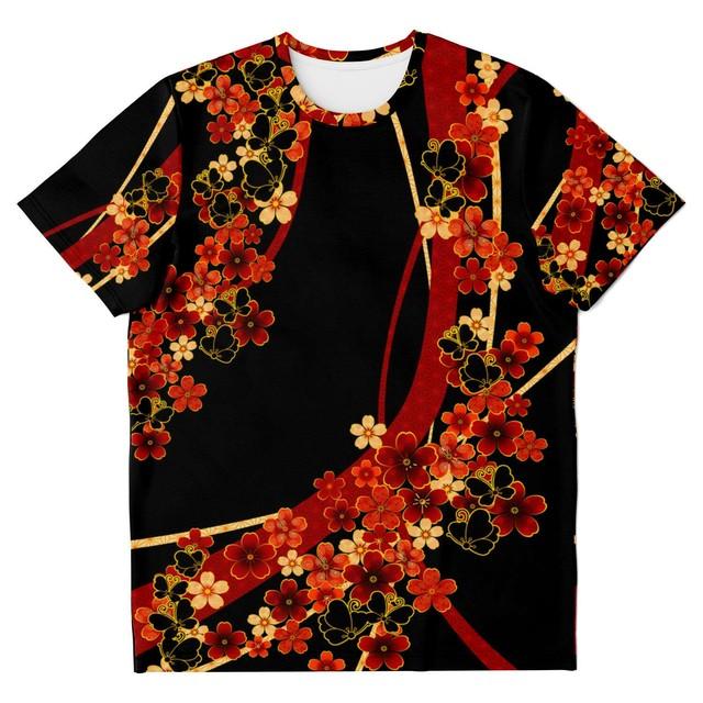 華家紋蝶家紋 ユニセックスTシャツ