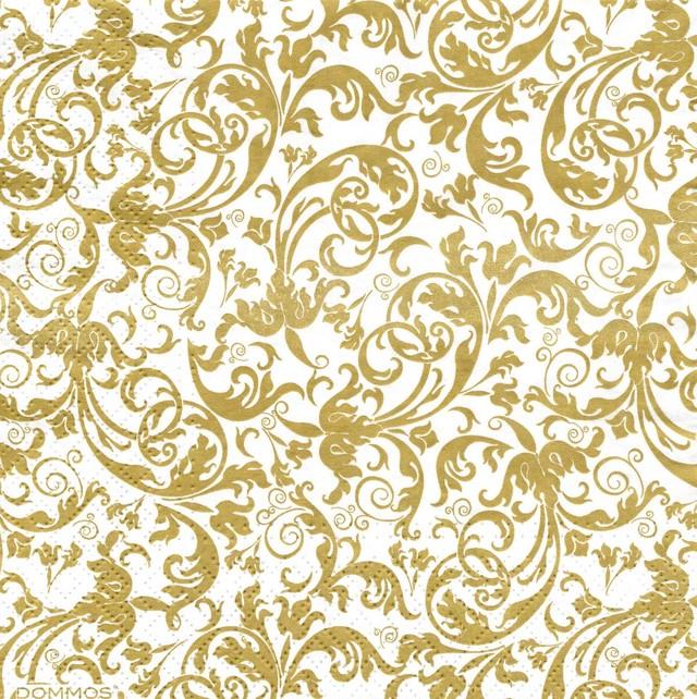 【DOMMOS】バラ売り2枚 ランチサイズ ペーパーナプキン LUXURY ゴールド