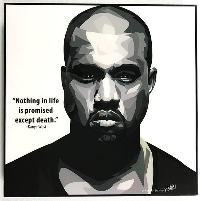 Kanye West / カニエ ウェスト「ポップアートパネル Keetatat Sitthiket」ポップアートフレーム ポップアートボード グラフィックアート ウォールアート 絵画 壁立て 壁掛けインテリア 額 ポスター プレゼント ギフト インスタ映え 音楽 キータタットシティケット